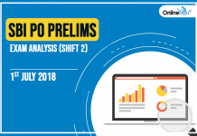 SBI PO Prelims Exam Analysis, Review: 1st July 2018 (Shift 2)