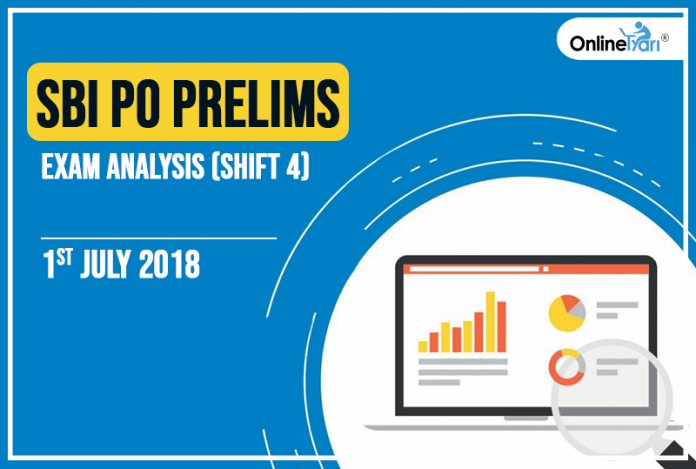SBI PO Prelims Exam Analysis, Review: 1st July 2018 (Shift 4)