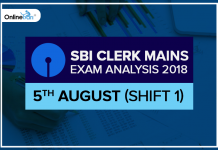 SBI Clerk Mains Exam Analysis (Shift 1) | 5th August, 2018