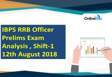 IBPS RRB Officer Prelims Exam Analysis , 12th August 2018 ( Shift 1)
