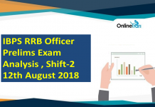 IBPS RRB Officer Prelims Exam Analysis, 12th August 2018 ( Shift 2)