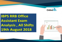 IBPS RRB Office Assistant Exam Analysis 2018 | 19th August (All Shifts)