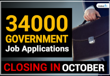 34000 government job application closing in october