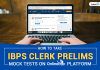 How to Take IBPS Clerk Prelims Mock Tests on OnlineTyari Platform
