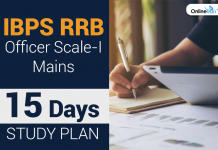 IBPS RRB Officer Scale 1 Mains: 15 Days Study Plan