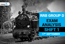 RRB Group D Exam Analysis 2018 Shift 1: 17th September 2018