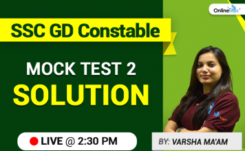 SSC GD Constable Mock Test 2 Solution Live
