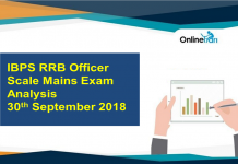 IBPS RRB Officer Scale 1 Mains Exam Analysis: 30th September 2018