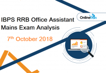 IBPS RRB Assistant Mains Exam Analysis: 7th October 2018