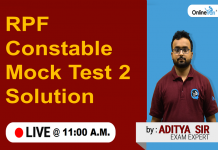rpf constable mock test 2 solution 11 am